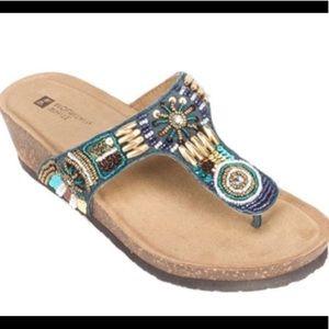 White mountain brilliant beaded sandal